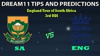 SA vs ENG Dream11 Team Prediction 3rd ODI