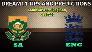 SA vs ENG Dream11 Team Prediction, England Tour of South Africa 2020, 3rd T20I