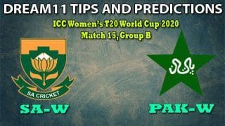 SA-W vs PAK-W Dream11 Team Prediction, ICC Women   s T20 World Cup 2020, Match 15, Group B