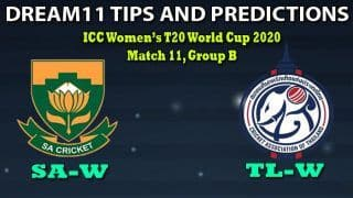 SA-W vs TL-W Dream11 Team Prediction, ICC Women's T20 World Cup 2020, Match 11, Group B: Captain And Vice-Captain, Fantasy Cricket Tips South Africa Women vs Thailand Women at Manuka Oval, Canberra 9:30 AM IST