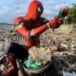Indonesian Man Dresses Up as Spider-Man To Clean Up Plastic Waste, Urges Others to Do the Same