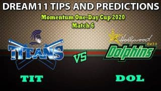 TIT vs DOL Dream11 Team Prediction Momentum One Day Cup 2020: Captain And Vice-Captain, Fantasy Cricket Tips Titans vs Dolphins Match 6 at SuperSport Park, Centurion 5:00 PM IST