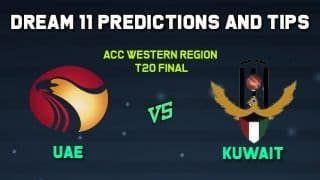 Dream11 Team Prediction UAE vs KUW, ACC Western Region T20, Final: Captain And Vice-Captain, Fantasy Cricket Tips United Arab Emirates vs Kuwait Oman 11:00 AM IST