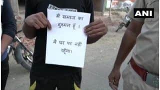 MP Cops Hand Out 'Main Samaaj Ka Dushman Hoon' Pamphlets To Those Roaming Out During Lockdown