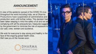 Karan Johar's Dharma Productions Suspends Administrative And Production Work Amid Coronavirus Scare