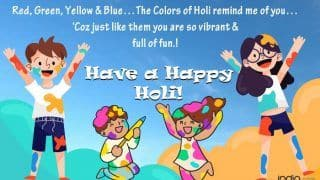 Happy Holi 2020: WhatsApp Messages, Quotes, GIFs, Holi Hai SMS to Wish Family And Friends