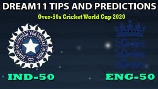 IND-50 vs ENG-50 Dream11 Team Prediction, Over-50s Cricket World Cup 2020, Match 5, Division B