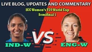 Live Cricket Score, India vs England, Semifinal, ICC Women's T20 World Cup