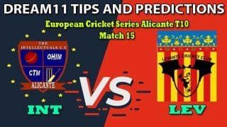 INT vs LEV Dream11 Team Prediction, European Cricket Series Alicante T10, Match 15: Captain And Vice-Captain, Fantasy Cricket Tips Intellectual CC vs Levante CC at Sporting Alfas Cricket Club, Alicante 6:30 PM IST