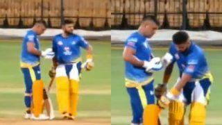 IPL 2020: Suresh Raina Worships MS Dhoni's Bat During CSK Practice Session, Video Goes Viral | WATCH