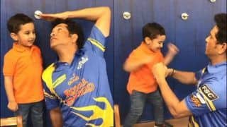 WATCH: Irfan Pathan's Son Playfully Boxing With Sachin Will Melt Your Heart