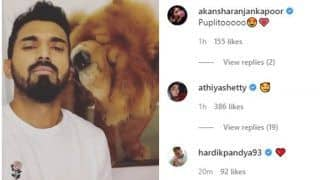 WATCH: Rahul Plays With Aww'dorable Furry Friend During Lockdown; Hardik, Athiya React