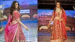 Karishma Tanna Turns Into Jaipuria Bride as She Takes The Ramp on Fire With Her Hot Bridal Look