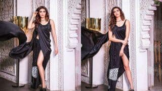 Karishma Tanna Raises Hotness Bar in Indo-western Sexy Black Dress From Magazine Photoshoot