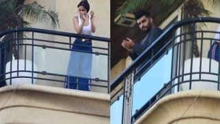Lovebirds Arjun Kapoor, Malaika Arora Spotted Together in Their Home Balcony During Janata Curfew