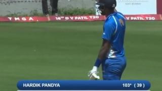 DY Patil Cup: हार्दिक पांड्या ने जड़ा दूसरा शतक; 55 गेंदो पर ठोकें 158 रन