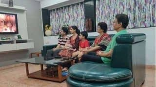 Reel Life Ram Arun Govil Watches Ramayan Along With His Grandchildren, Picture Goes Viral