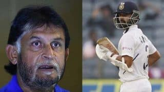 Sandeep patil slams ajinkya rahane by saying if you want to just occupy the crease call a security guard 3961596