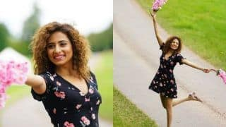 Sargun Mehta Flaunts Her Contagious Smile in Little Floral Black Dress And Curls, Looks Hot in Latest Pictures