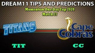TIT vs CC Dream11 Team Prediction, Momentum One-Day Cup 2020, Match 27