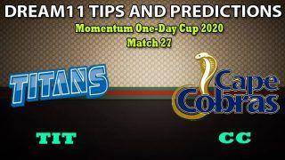 TIT vs CC Dream11 Team Prediction, Momentum One-Day Cup 2020, Match 27: Captain And Vice-Captain, Fantasy Cricket Tips Titans vs Cape Cobras at Willowmoore Park, Benoni 5:00 PM IST