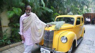 मेगास्टार अभिताभ बच्चन को गिफ्ट में मिली विंटेज कार, फोटो शेयर कर जाहिर की खुशी