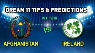 Dream11 Team Prediction Cricket AFG vs IRE, Afghanistan vs Ireland T20I: Captain And Vice-Captain, Fantasy Cricket Tips Afghanistan vs Ireland Greater Noida Sports Complex Ground in Greater Noida 2:00 PM IST