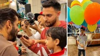 Salman Khan's Nephew Ahil Celebrates 4th Birthday in Panvel, See Photos