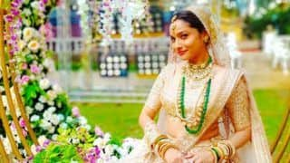 Baaghi 3 Actor Ankita LokhandeSizzles In Golden Lehenga as She Poses Like a Bride!