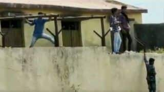 Watch: Boys Scale School Wall to Supply Chits to Examinees in Maharashtra