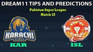 KAR vs ISL Dream11 Team Prediction, PSL, Pakistan Super League 2020, Match 28: Captain And Vice-Captain, Fantasy Cricket Tips Karachi Kings vs Islamabad United at National Stadium, Karachi 7:30 PM IST