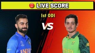 Live Cricket Score: India vs South Africa, 1st ODI, Dharamsala