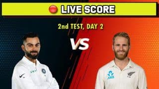 Live cricket score India vs New Zealand, IND vs NZ, 2nd Test, Day 2, New Zealand vs India Test Series, Hagley Oval, Christchurch, March 1 Match Time