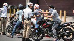लॉकडाउन का उल्लंघन करना वाहन चालकों को पड़ रहा महंगा, पुलिस उड़ेल रही पीला रंग