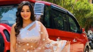 Bhojpuri Hotshot And Nazar Actor Monalisa's Drool-Worthy Pictures in Peach Net Saree Will Take Away Your Monday Blues