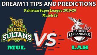 MUL vs LAH Dream11 Team Prediction, PSL, Pakistan Super League 2020, Match 29: Captain And Vice-Captain, Fantasy Cricket Tips Multan Sultans vs Lahore Qalandars at Gaddafi Stadium, Lahore 2:30 PM IST