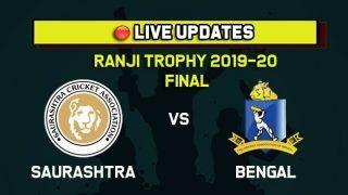 Live Score: Saurashtra vs Bengal, Ranji Trophy Final, Day 1: After Avi Barot 54, Vishvarajsinh Jadeja Takes Saurashtra to 155/2 at Tea