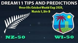 NZ-50 vs WI-50 Dream11 Team Prediction, Over-50s Cricket World Cup 2020, Match 2, Division A