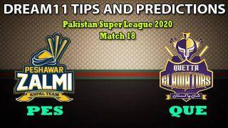 PES vs QUE Dream11 Team Prediction, PSL, Pakistan Super League 2020, Match 18: Captain And Vice-Captain, Fantasy Cricket Tips Peshawar Zalmi vs Quetta Gladiators at Rawalpindi Cricket Stadium, Rawalpindi 7:30 PM IST