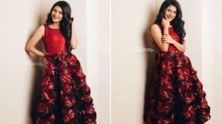 Malayalam Hot Actor Priya Prakash Varrier Paints The Town Red in Gorgeous Dress And Contagious Smile