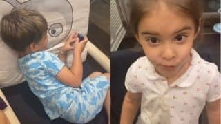 Karan Johar Shares Aww-dorable Video of Twins Yash, Roohi as They Goof Around With Grandmother Hiroo Johar