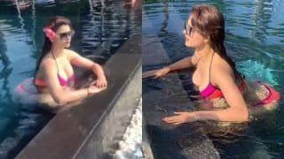 Urvashi Rautela Looks Sizzling Hot in Sexy Pink Bikini, Misses Stepping Out of House Amid Coronavirus Lockdown