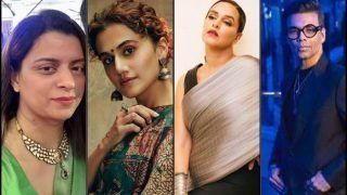 Rangoli Chandel Calls Out 'Dumb Wannabe Feminist', Targets Taapsee Pannu-Neha Dhupia-Karan Johar in Latest Tweets