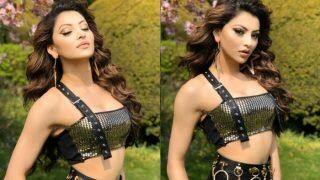 Urvashi Rautela Looks Smoking Hot in Black Crop Top And Pants as She Flaunts Her Washboard Abs