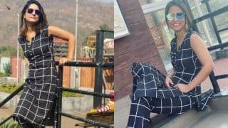 Hina Khan Wears Black-white co-ord Dress, Stuns Fans With Simple no-makeup Look