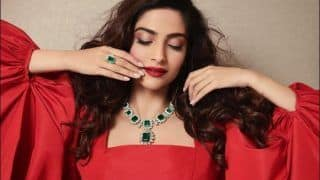 Sonam Kapoor Ahuja Paints Fans Monday Blues Red, Flaunts Elizabeth Taylor's Jewellery in Sultry Pictures