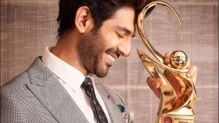 Kartik Aaryan Flaunts 'Best Actor in Comic Role' Trophy at Zee Cine Awards, Shuts up Trolls Questioning His 'Muchhon Wala Character'-Weight Gain For Pati Patni Aur Woh
