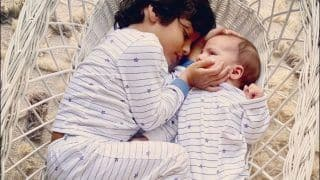 Lisa Haydon's Sons Nestled Together in Basket is Too Awwdorable For Our Hearts to Handle This Sunday!