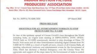 Indian Motion Pictures Producers' Association Halts Shooting of 'All Entertainment Formats' Amid COVID-19 Scare