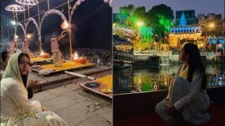 Sara Ali Khan Catches Picturesque Morning Aarti at Varanasi, Gives Fans Sneak-Peak in THESE Videos